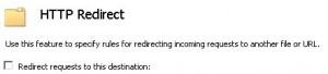 Uncheck URL Redirect